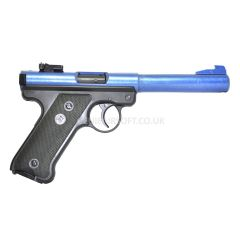 KJ Works Ruger MK1 Gas Powered Airsoft BB Gun 2-Tone